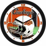 Oklahoma State Cowboys Football Helmet Wall Clock