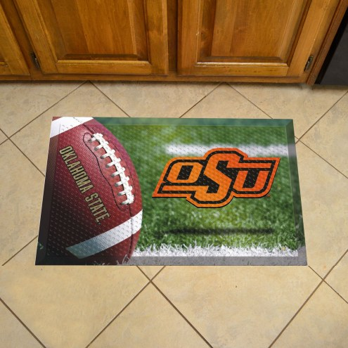 Oklahoma State Cowboys Football Scraper Door Mat