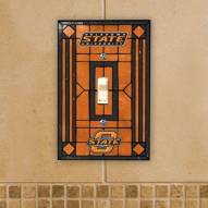 Oklahoma State Cowboys Glass Single Light Switch Plate Cover