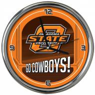 Oklahoma State Cowboys Go Team Chrome Clock