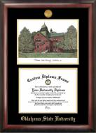 Oklahoma State Cowboys Gold Embossed Diploma Frame with Lithograph