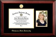 Oklahoma State Cowboys Gold Embossed Diploma Frame with Portrait