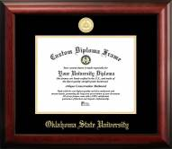 Oklahoma State Cowboys Gold Embossed Diploma Frame