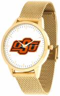 Oklahoma State Cowboys Gold Mesh Statement Watch