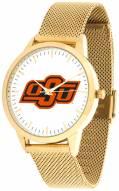 Oklahoma State Cowboys Gold Mesh Statement Watch