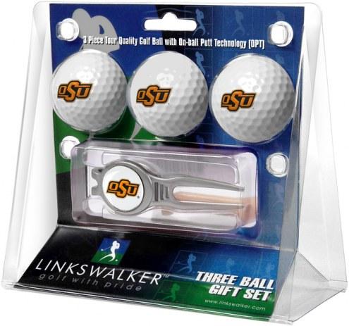 Oklahoma State Cowboys Golf Ball Gift Pack with Kool Tool