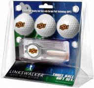 Oklahoma State Cowboys Golf Ball Gift Pack with Kool Tool