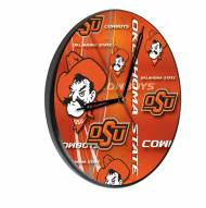 Oklahoma State Cowboys Digitally Printed Wood Clock