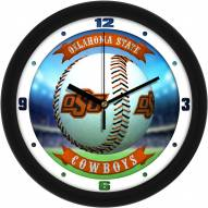 Oklahoma State Cowboys Home Run Wall Clock
