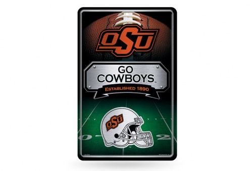 Oklahoma State Cowboys Large Embossed Metal Wall Sign