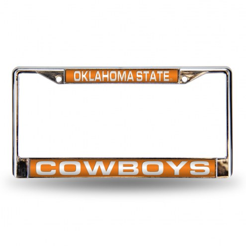 Oklahoma State Cowboys Laser Chrome License Plate Frame