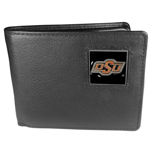 Oklahoma State Cowboys Leather Bi-fold Wallet in Gift Box