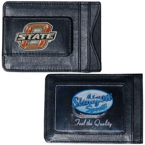 Oklahoma State Cowboys Leather Cash & Cardholder