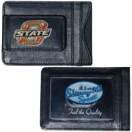 Oklahoma State Cowboys Leather Cash & Cardholder