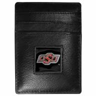 Oklahoma State Cowboys Leather Money Clip/Cardholder in Gift Box