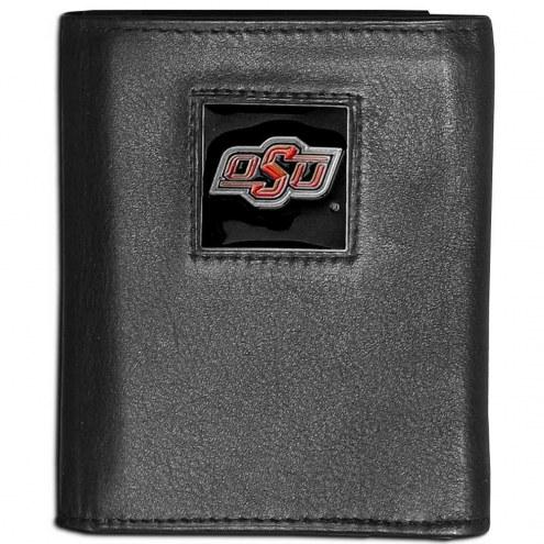 Oklahoma State Cowboys Leather Tri-fold Wallet