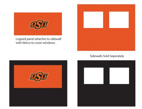 Oklahoma State Cowboys Logo Canopy Sidewall Panel (Attaches to Window Sidewall)
