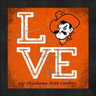 Oklahoma State Cowboys Love My Team Color Wall Decor