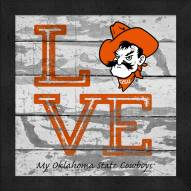 Oklahoma State Cowboys Love My Team Square Wall Decor