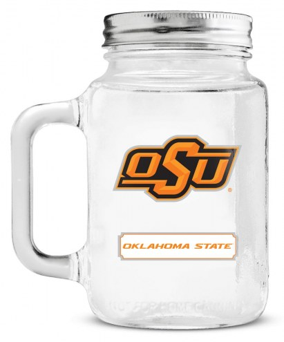 Oklahoma State Cowboys Mason Glass Jar