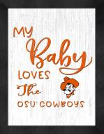 Oklahoma State Cowboys My Baby Loves Framed Print