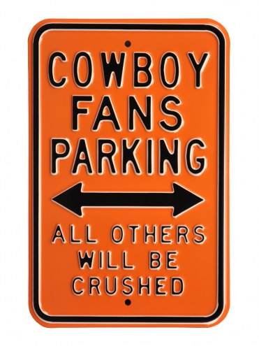 Oklahoma State Cowboys NCAA Embossed Parking Sign