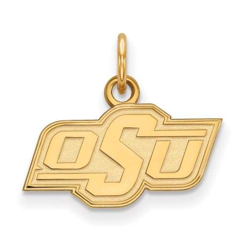 Oklahoma State Cowboys NCAA Sterling Silver Gold Plated Extra Small Pendant