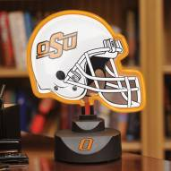 Oklahoma State Cowboys Neon Helmet Desk Lamp