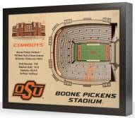 Oklahoma State Cowboys 25-Layer StadiumViews 3D Wall Art