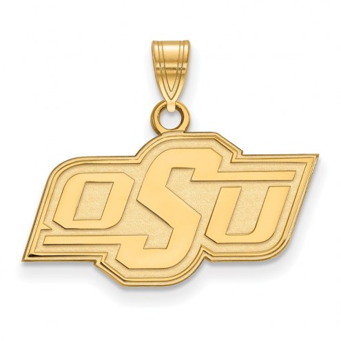 Oklahoma State Cowboys NCAA Sterling Silver Gold Plated Small Pendant