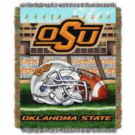 Oklahoma State Cowboys NCAA Woven Tapestry Throw / Blanket