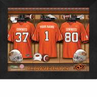 Oklahoma State Cowboys Personalized Locker Room 11 x 14 Framed Photograph