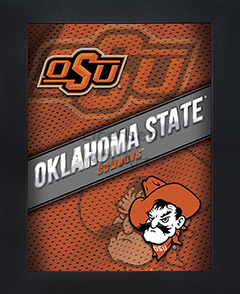 Oklahoma State Cowboys Framed 3D Wall Art