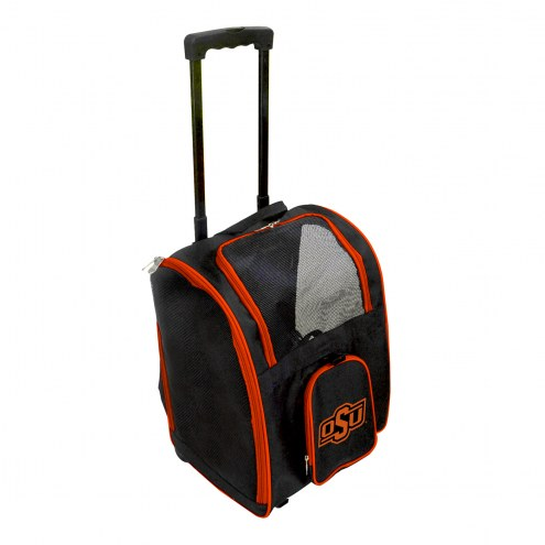 Oklahoma State Cowboys Premium Pet Carrier with Wheels