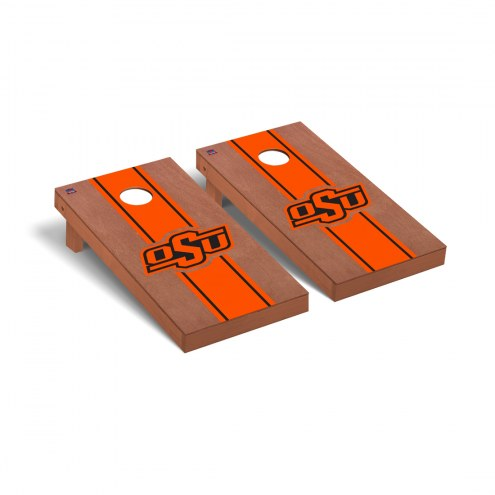 Oklahoma State Cowboys Rosewood Stained Cornhole Game Set