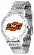 Oklahoma State Cowboys Silver Mesh Statement Watch