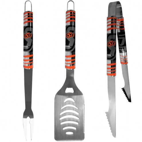Oklahoma State Cowboys 3 Piece Tailgater BBQ Set