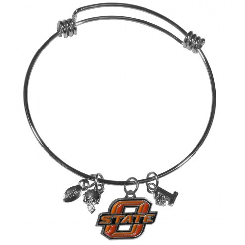 Oklahoma State Cowboys Charm Bangle Bracelet