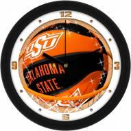 Oklahoma State Cowboys Slam Dunk Wall Clock