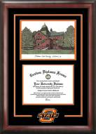 Oklahoma State Cowboys Spirit Diploma Frame with Campus Image