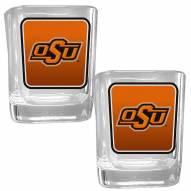 Oklahoma State Cowboys Square Glass Shot Glass Set