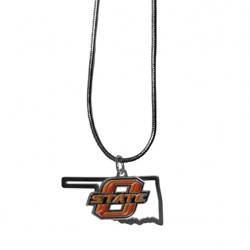 Oklahoma State Cowboys State Charm Necklace
