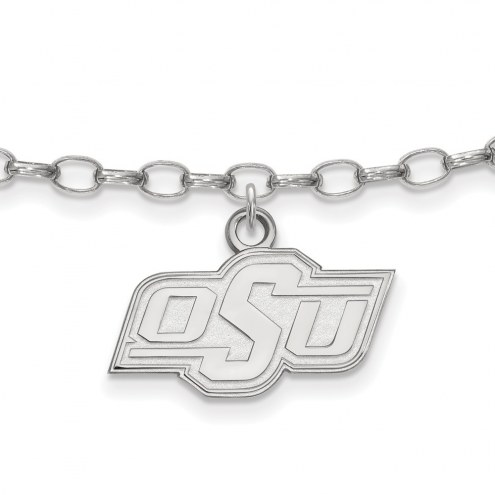 Oklahoma State Cowboys Sterling Silver Anklet