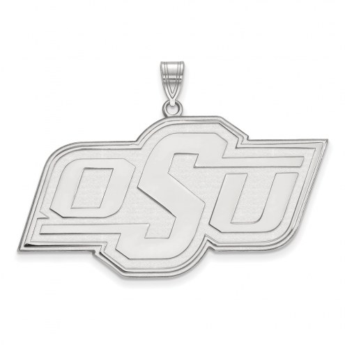Oklahoma State Cowboys Sterling Silver Extra Large Pendant