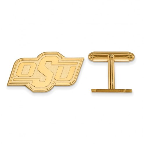 Oklahoma State Cowboys Sterling Silver Gold Plated Cuff Links