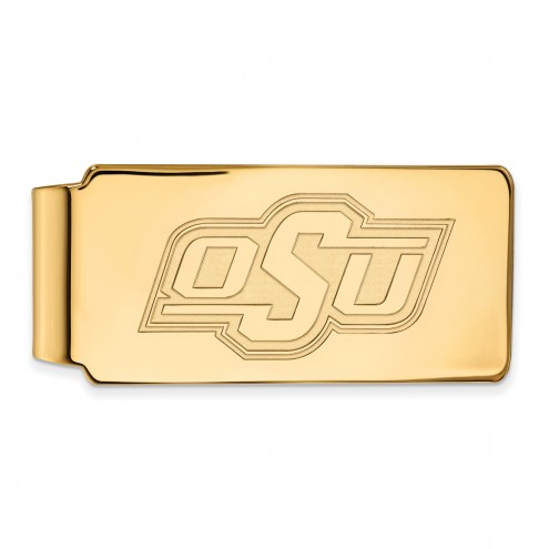 Oklahoma State Cowboys Sterling Silver Gold Plated Money Clip