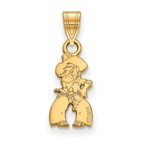 Oklahoma State Cowboys Sterling Silver Gold Plated Small Pendant