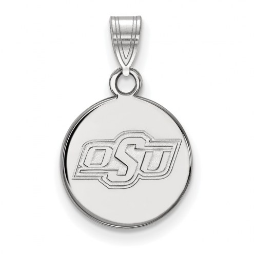 Oklahoma State Cowboys Sterling Silver Small Disc Pendant