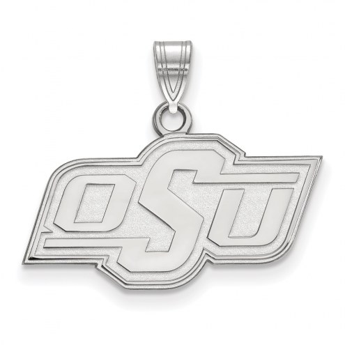 Oklahoma State Cowboys Sterling Silver Small Pendant