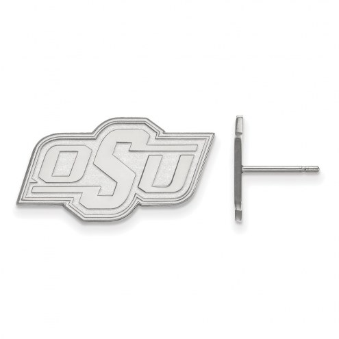 Oklahoma State Cowboys Sterling Silver Small Post Earrings